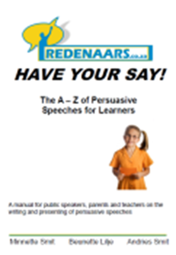 """Picture of """"The A - Z of of Persuasive Speeches for Learners"""" - e-Book"""