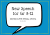 New Speech for Gr 8-12: Request a New Speech - unique and specific to a theme of your choice!