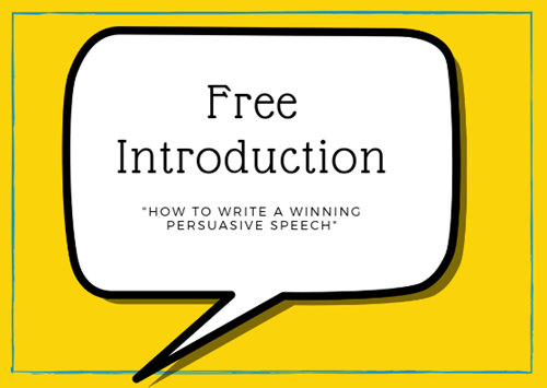 "FREE introduction - ""How to write a WINNING persuasive speech"""